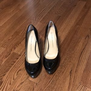 Black patent leather High heel shoes